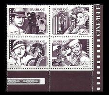 BRAZIL. Film Personalities. 1990 Scott 2254a. Block of 4. MNH (BI#24)
