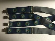Vintage Department of the Navy United States of America Blue Suspenders Braces