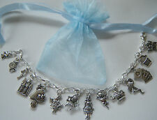 Alice in Wonderland Theme Charm Bracelet Party Bag Filler Birthday Gift Favour