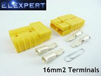 ANDERSON PLUG 50 AMP_BATTERY CONNECTOR_JUMP START_SLAVE ASSIST_X2_YELLOW_16MM2
