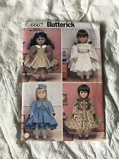 Butterick Pattern #6667 Historic Clothing for 18' Doll