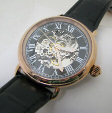 MENS ROSE GOLD HERITOR AUTOMATIC SKELETON WRISTWATCH WATCH