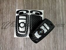 Black Carbon Fiber BMW Key Ring Fob Sticker Decal Overlay Series 6 F12 F13 F06