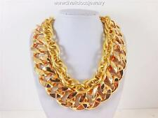 Exquisite Combo Double Chain Diva Necklace - Gold Tone