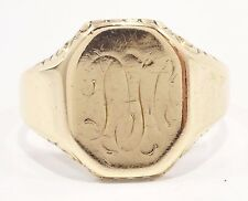 10k Solid Gold Signet Ring Personalize Great Design Can Be Shipped Free Shipping