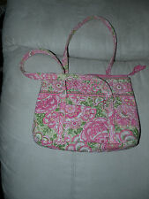 gently used Vera Bradley pink & green medium bag or purse lots of pockets