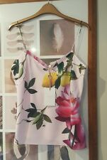 BNWT TED BAKER CITRUS BLOOM PRINT CAMI PINK SIZE MEDIUM 10-12 - SOLD OUT!