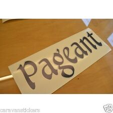 BAILEY Pageant - (STYLE 4) - Caravan Roof Name Sticker Decal Graphic - SINGLE