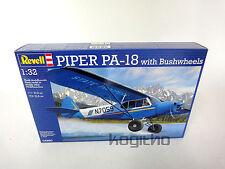Revell Piper PA-18 con Bushwheels Escultura Modelo de construcción 1:32 Avión