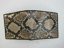 credit card genuine snake skin leather bifold wallet size11x9.5 cm. MS90T