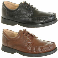 Mens Softie Leather Lace Up Shoes in Black or Brown Size 6 7 8 9 10 11 12 13 14
