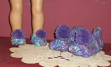 Dolly and Me Slippers for  6 - 8  Year Old Girl - Lavender & Monet