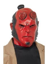 Hellboy Latex Mask Fancy Dress Superhero Adult Mens Costume Halloween Accessory