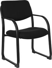 Heavy Duty Black Color Fabric Reception Office Side Chair and Waiting Room
