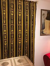 VERSACE CURTAINS FABRIC MEDUSA BAROQUE  panel 240 cm long  Retired