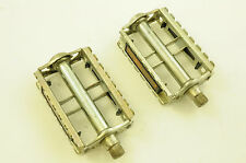 """VINTAGE UNION 9/16"""" STEEL RAT-TRAP 60's 70's RACING BIKE PEDALS MADE IN GERMANY"""