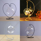 Elegant Iron Wedding Candle Holder Moroccan Candlestick Glass Ball Hanging Stand