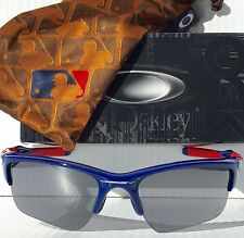 NEW* Oakley HALF JACKET 2.0 MLB Chicago CUBS BLUE Black Iridium Sunglass 9154-41