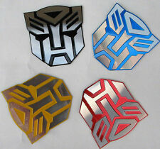 Car Stickers Auto Metal Badge Emblem Sticker Transformers Autobot 3D Logo Decals
