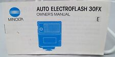 Minolta Auto Electroflash 30FX instruction manual