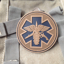 EMS MEDIC CROSS STAR EMT TACTICAL ARMY MORALE AIRSOFT 3D PVC RUBBER VELCRO PATCH