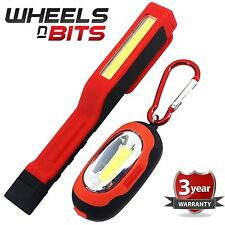 3W COB LED Penlight Torch With 1W Carabiner Magnetic Backing Light inc Batteries
