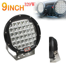 9Inch 320W 32X CREE XPL LED Round LED Work Lights Spot light Offroad HID VS 315W