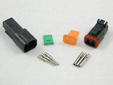 BLACK DEUTSCH 2 PIN DT SERIES CONNECTOR KIT 18-16 AWG -1