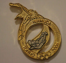 Torino 2006 Bermuda Gold Skeleton Olympic NOC Pin