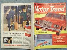 1959 DECEMBER MOTOR TREND MAGAZINE TEST DETROIT TO LA IN THE RAM TUNED DART CHRY