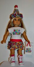 HAPPY BIRTHDAY - AMERICAN MADE DOLL CLOTHES FOR 18 INCH GIRL DOLLS DRESS LOT 5A
