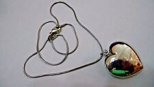 """VINTAGE TIFFANY & COMPANY STERLING SILVER LARGE HEART PENDANT AND 18"""" CHAIN"""