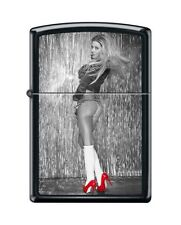 Zippo 0707 Red Shoes Woman in Lingerie Black Matte Lighter