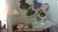"TONNER BETSY McCALL DOLL 14 inch w/ BED doll clothes assor ""PLEASE READ NOTE"""