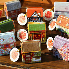 Fantastic Dream Vintage House Storage Tin Box Coin Bag Jewelry Box