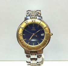 Fendi 900G Stainless Steel & 18K Gold Unisex Wrist Watch
