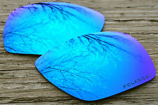 Cool Sky Blue Mirrored Polarized  Replacement Sunglass Lenses for Oakley Inmate