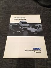 1994 Fiat Cinquecento Panda Uno UK Car Accessories Brochure Price List
