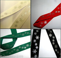 "Luxury Selection Of Designer 1"" Wide Cotton Christmas Ribbon- 3 metres-£1.99"