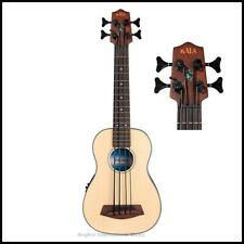 Kala U-Bass Spruce Top Fretless Acoustic / Electric Bass Ukulele UBASS-SSMHG FL