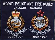 Genuine Hong Kong World Police & Fire Games 1997 Calgary Canada TRF/Patch/Badge