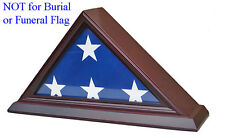 3' x 5' Flag Display Case Flag holder box, Not for BURIAL FUNERAL flag FC35-CHE