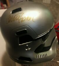 Princess Leia Star Wars Carrie Fisher Signed Storm Trooper Helmet JSA COA