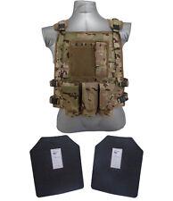 AR500 Steel Body Armor Wildcat Carrier Vest + Level III Plates   Multicam