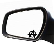 2x Specchietto Adesivo Anarchia Punk Teschio Targa Riconoscimento