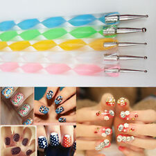 5x2 ways Stylo Dotting Pen Ongle Marbleizing Strass Tips Manucure Nail Art IDXX