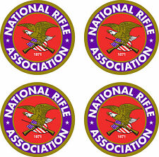 """4 National Rifle Association  Stickers 3.5""""  FREE SHIPPING"""