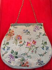 Green Purse France 1920 Fine Petit Point