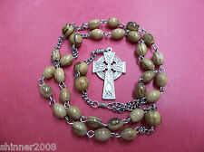 Protestant Episcopal Rosary OLIVE WOOD ROSARY CELTIC CROSS  $16 OFF HANDMADE