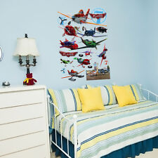 63x39cm/24.8x15.3in Kid BedRoom Wall Sticker 5D Printing airplane CarToon Mural
